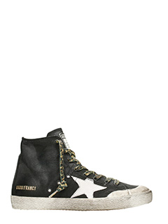 Golden Goose Deluxe Brand-Sneakers  Francy in pelle bianca latte