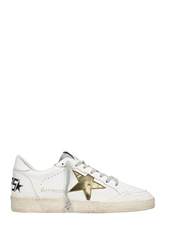 Golden Goose Deluxe Brand-Sneakers Ball Star in pelle bianca oliva