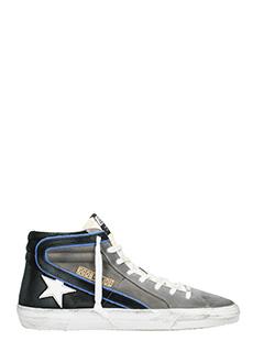 Golden Goose Deluxe Brand-Slide blue suede sneakers