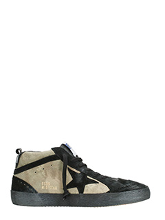 Golden Goose Deluxe Brand-Sneakers Mid Star in suede camou/nero