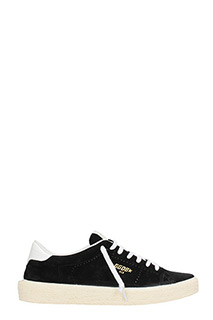 Golden Goose Deluxe Brand-Sneakers Tennis in suede nera
