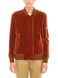 Golden Goose Deluxe Brand-Bomber Jonie  Lined velvet rust velvet