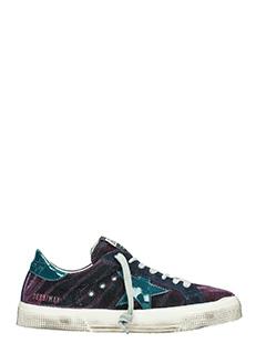 Golden Goose Deluxe Brand-Sneakers May in velluto viola verde