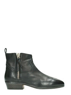 Golden Goose Deluxe Brand-Viand black leather ankle boots