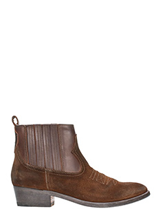 Golden Goose Deluxe Brand-Tronchetti in pelle e camoscio marrone