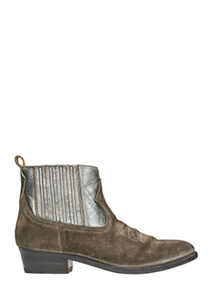 Golden Goose Deluxe Brand-Silver suede boots