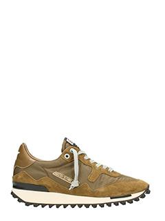 Golden Goose Deluxe Brand-Sneakers Starland in camoscio e tessuto khaki