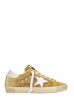 Golden Goose Deluxe Brand-Sneakers Superstar in velluto oro