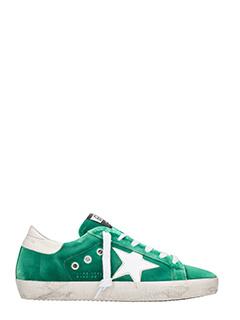 Golden Goose Deluxe Brand-Sneakers Superstar in velluto verde smeraldo