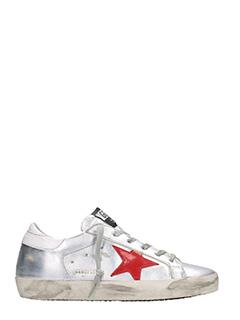 Golden Goose Deluxe Brand-Sneakers Superstar in pelle argento