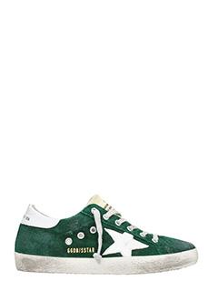Golden Goose Deluxe Brand-Sneakers Superstar in pelle verde foresta