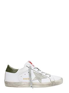 Golden Goose Deluxe Brand-Sneakers Superstar in pelle bianca mility