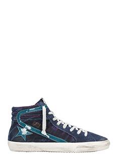 Golden Goose Deluxe Brand-Sneakers Slide in tessuto glitter viola