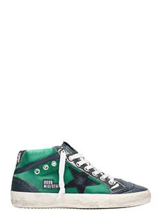Golden Goose Deluxe Brand-Sneakers Mid Star in pelle verde
