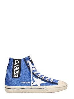 Golden Goose Deluxe Brand-Sneakers V-Star 1 micro glitter blue