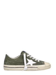 Golden Goose Deluxe Brand-Sneakers VStar 2 in pelle verde militare