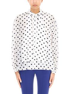 Balenciaga-Open Back silk bluse