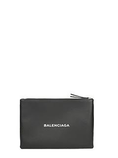 Balenciaga-Black Logo pouch
