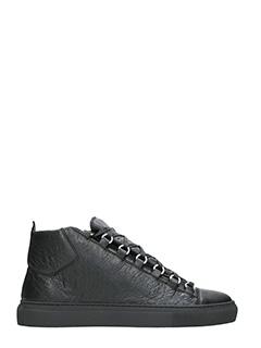 Balenciaga-Arena leather sneakers