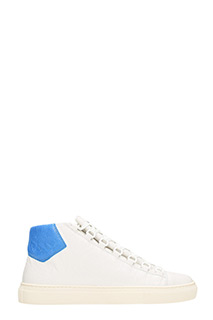 Balenciaga-Sneakers Arena Hight in pelle bianca blue