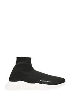 Balenciaga-Sneakers Speed in tessuto elastico nero