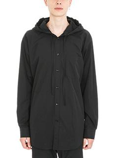 Balenciaga-black cotton Hood shirt