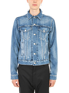 Balenciaga-Bleu Denim Logo jacket
