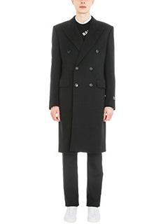 Balenciaga-Double breasted black wool coat