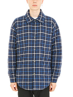 Balenciaga-Shirt Jacket oversize blue wool