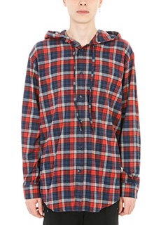 Balenciaga-Camicia Checked in lana rossa multicolor