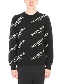 Balenciaga-Logo Print Jumper
