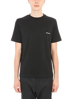 Balenciaga-classic black logo t-shirt