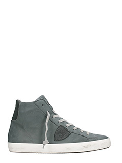 Philippe Model-Paris grey leather sneakers