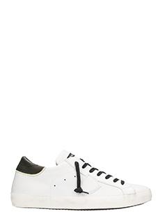 Philippe Model-Sneakers Paris in pelle bianca e nera