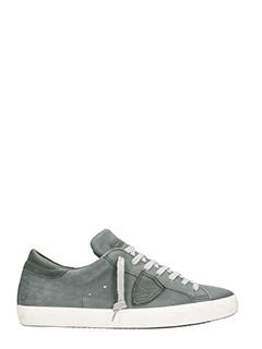 Philippe Model-Sneakers Paris in pelle grigia