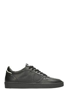 Philippe Model-Sneakers Lakers in pelle nera