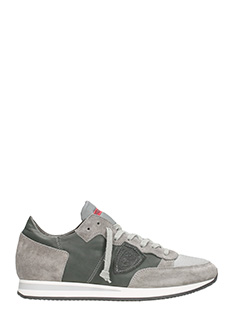 Philippe Model-Running Tropez in camoscio grigio