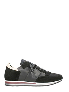 Philippe Model-Sneakers in camoscio nero