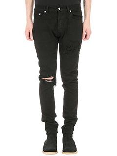 Mr.Completely-black denim jeans