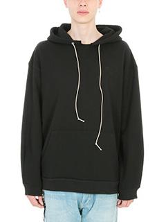 Mr.Completely-black cotton sweatshirt