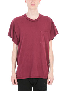 Mr.Completely-T-shirt Pocket in cotone bordeaux