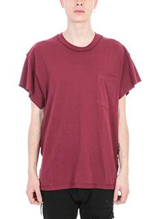 Mr.Completely-bordeaux cotton t-shirt