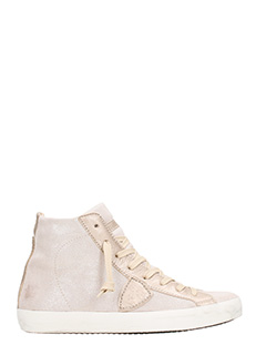 Philippe Model-Sneakers Paris in pelle rosa champagne