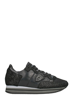 Philippe Model-Tropez Higher glitter leather sneakers