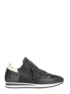 Philippe Model-Tropez glitter leather sneakers