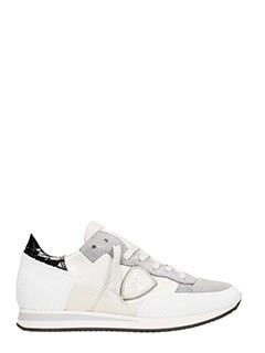 Philippe Model-Tropez silver sneakers