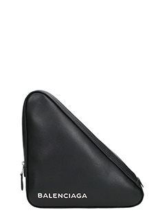Balenciaga-Black Triangle Pouch M
