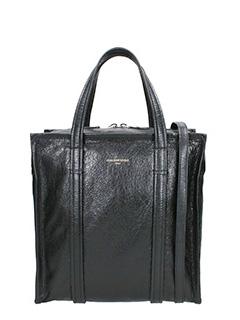 Balenciaga-Pochette L Logo in pelle nera