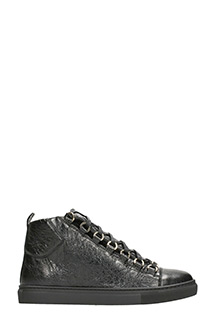 Balenciaga-Sneakers arena high in pelle nera