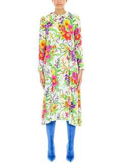 Balenciaga-Slide Floral Jacquard  dress